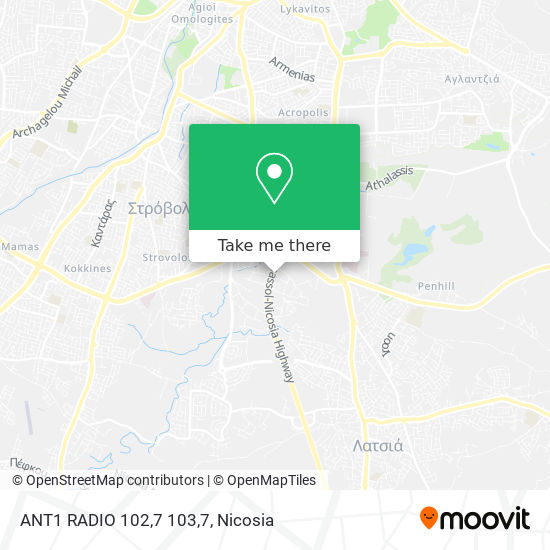 ANT1 RADIO 102,7 103,7 map