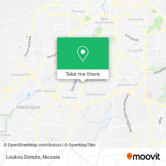 Loukou Donuts map