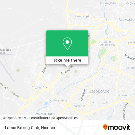 Latsia Boxing Club map