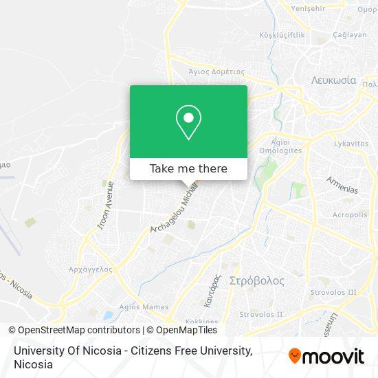 University Of Nicosia - Citizens Free University map