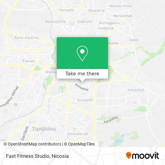Fast Fitness Studio map