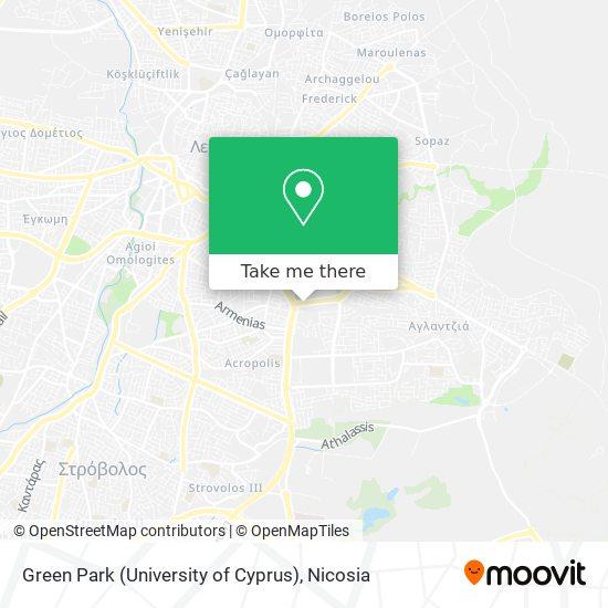 Green Park (University of Cyprus) map