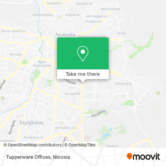 Tupperware Offices map