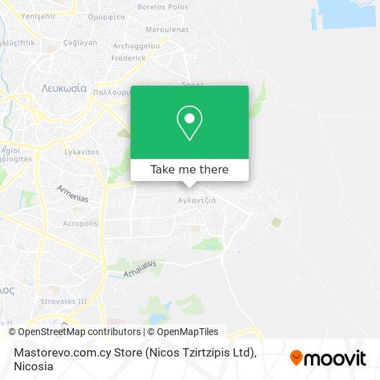 Mastorevo.com.cy Store (Nicos Tzirtzipis Ltd) map