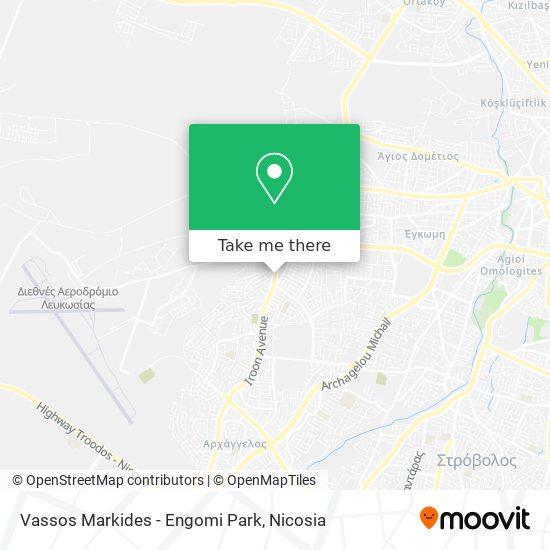 Vassos Markides - Engomi Park map