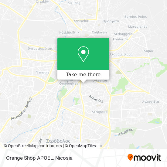 Orange Shop APOEL map