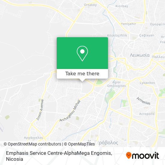 Emphasis Service Centre-AlphaMega Engomis map