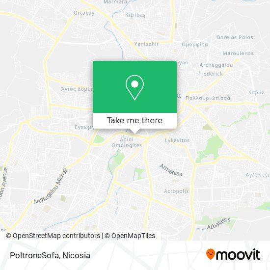 PoltroneSofa map
