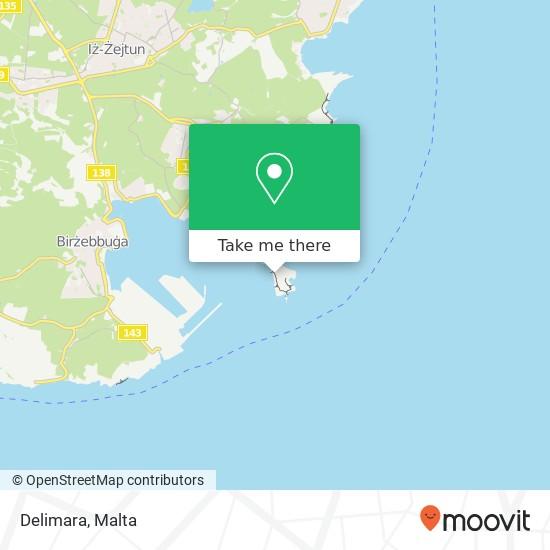 Delimara map