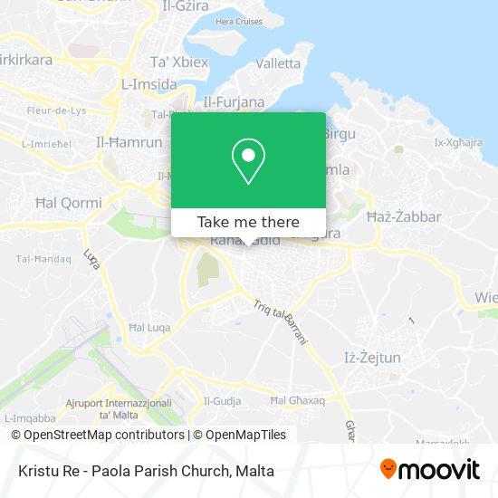 Kristu Re - Paola Parish Church map