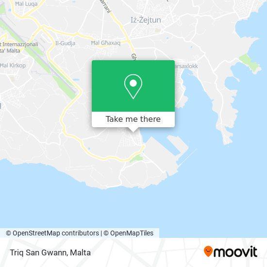 Triq San Gwann map