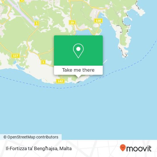 Il-Fortizza ta' Bengħajsa map
