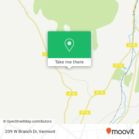 209 W Branch Dr地图