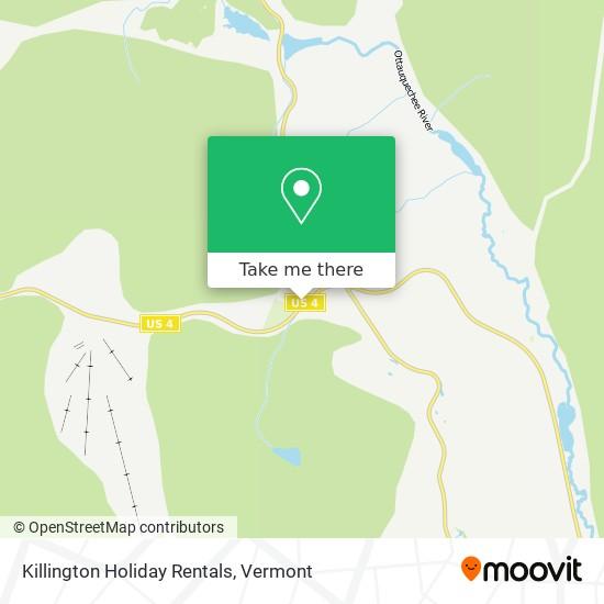 Killington Holiday Rentals地图