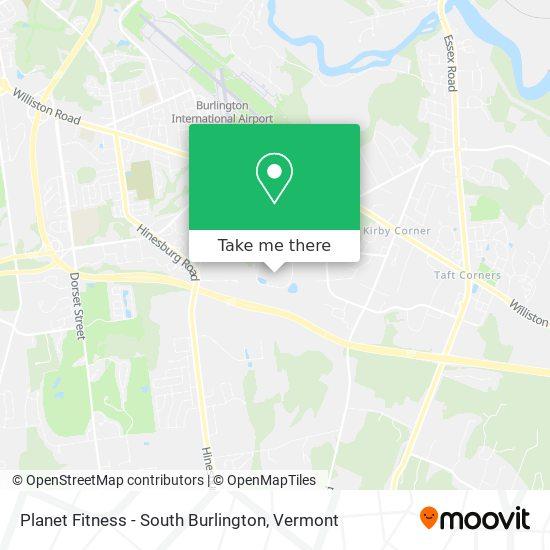 Planet Fitness - South Burlington mapa
