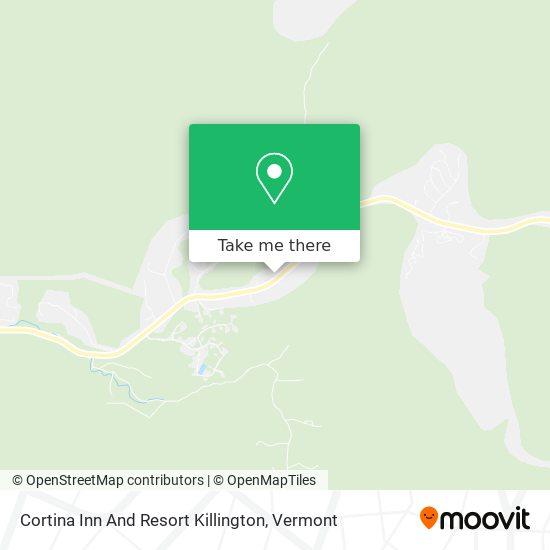 Mapa de Cortina Inn And Resort Killington