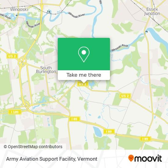 Mapa de Army Aviation Support Facility