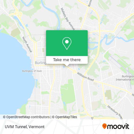 UVM Tunnel mapa