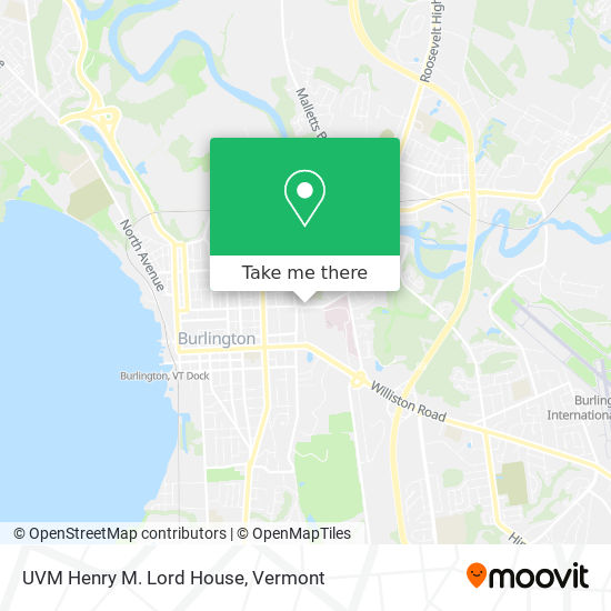 UVM Henry M. Lord House plan