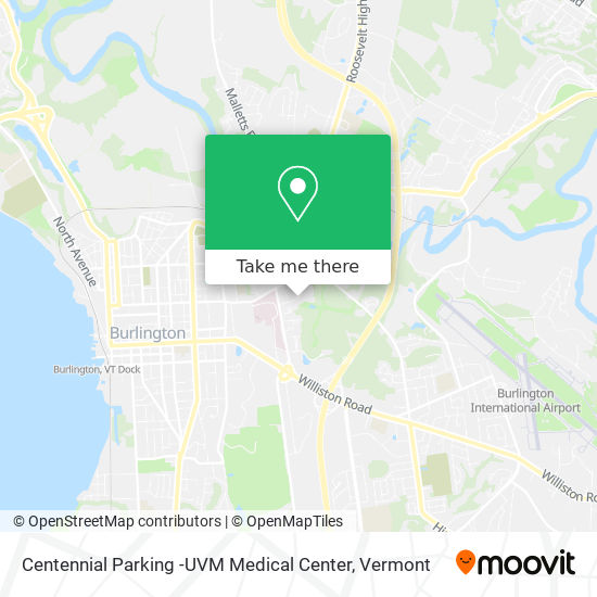 Centennial Parking -UVM Medical Center mapa