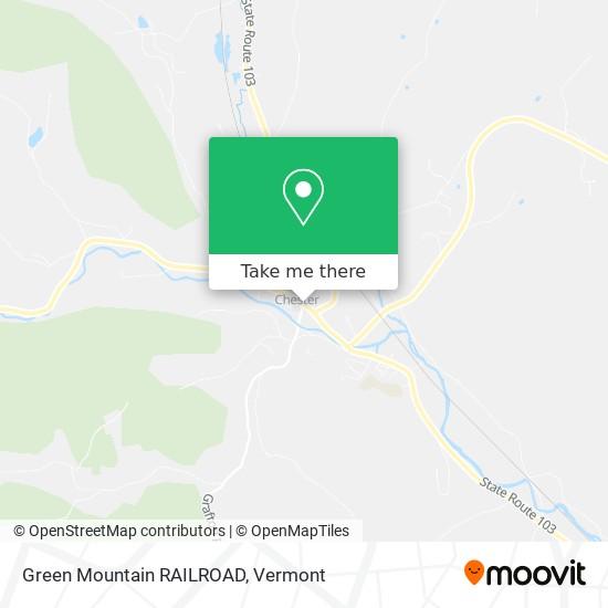 Green Mountain RAILROAD地图