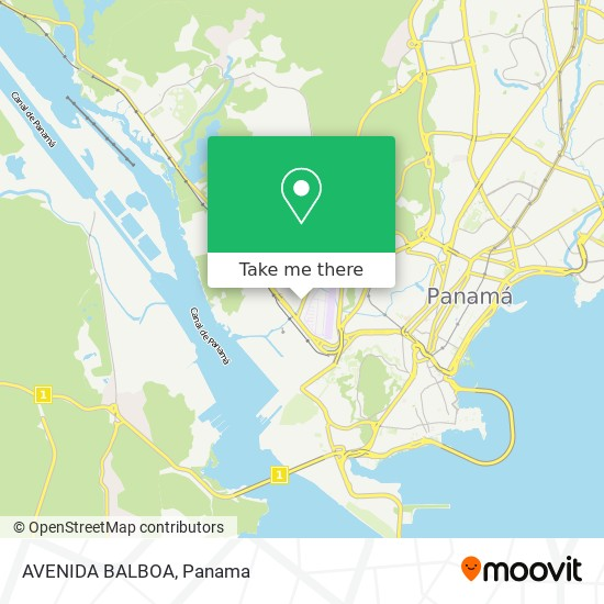 AVENIDA BALBOA map