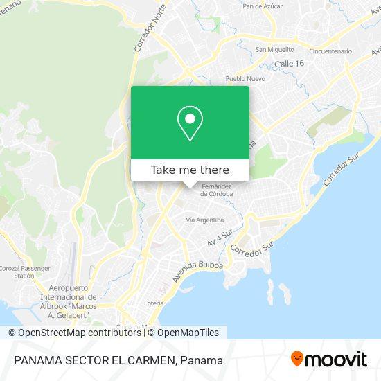 PANAMA SECTOR EL CARMEN map