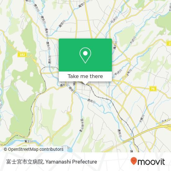 富士宮市立病院 지도