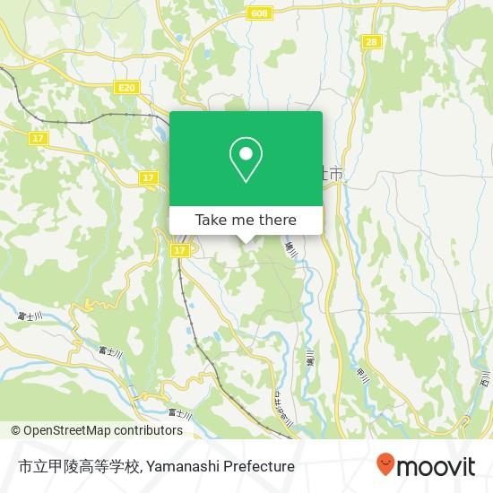 市立甲陵高等学校 지도