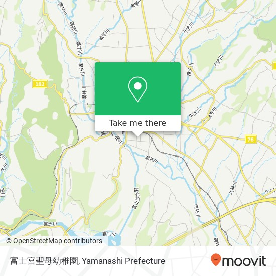 富士宮聖母幼稚園 지도