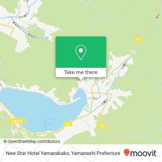 New Star Hotel Yamanakako map
