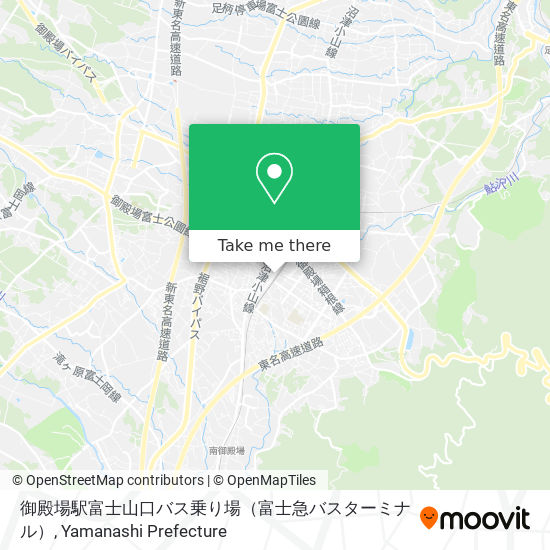 御殿場駅富士山口バス乗り場(富士急バスターミナル) map