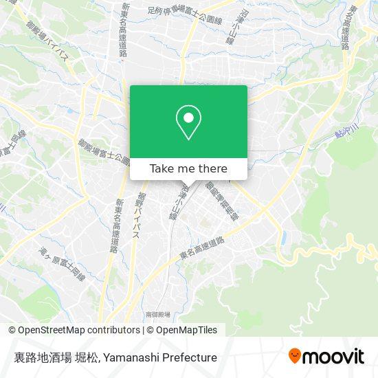裏路地酒場 堀松 map