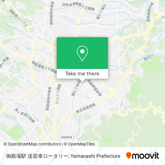 御殿場駅 送迎車ロータリー map
