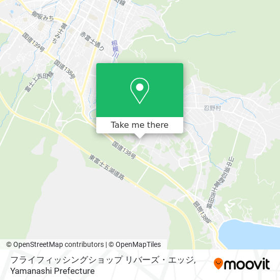 フライフィッシングショップ リバーズ・エッジ map