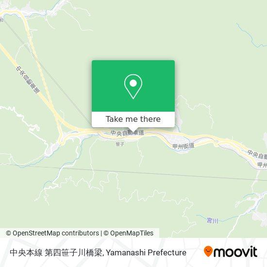 中央本線 第四笹子川橋梁 map