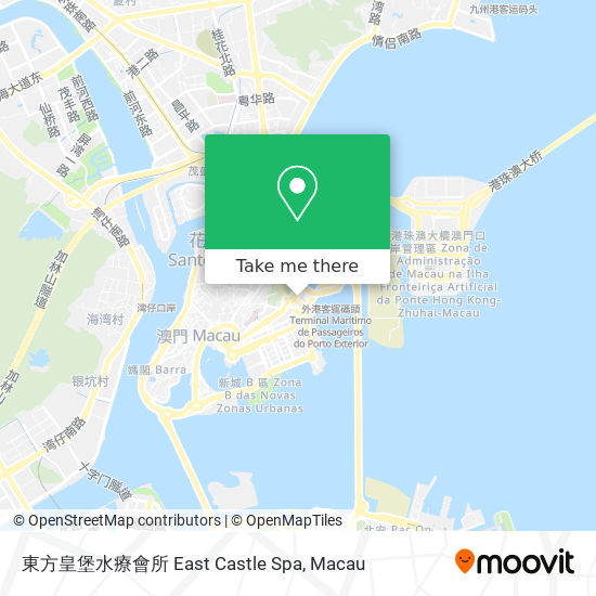 東方皇堡水療會所 East Castle Spa map