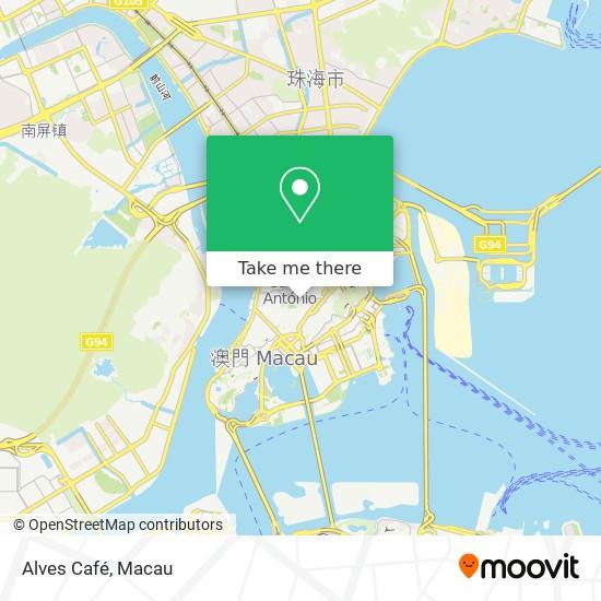 Alves Café map