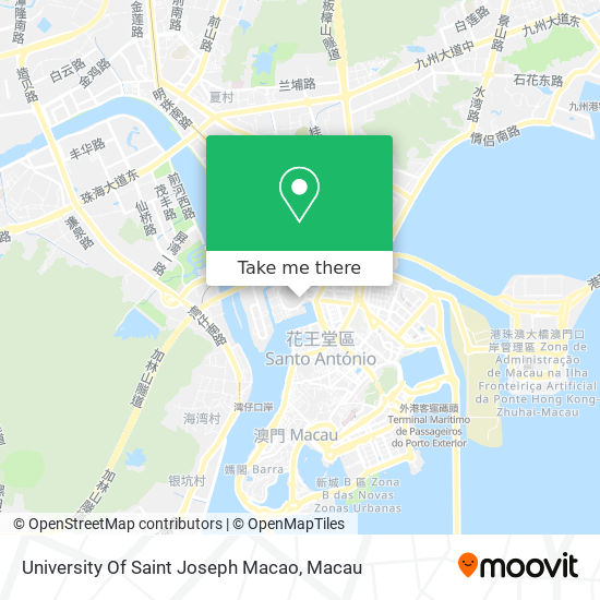 University Of Saint Joseph Macao map