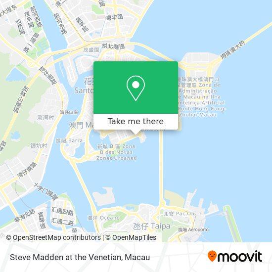Steve Madden at the Venetian map