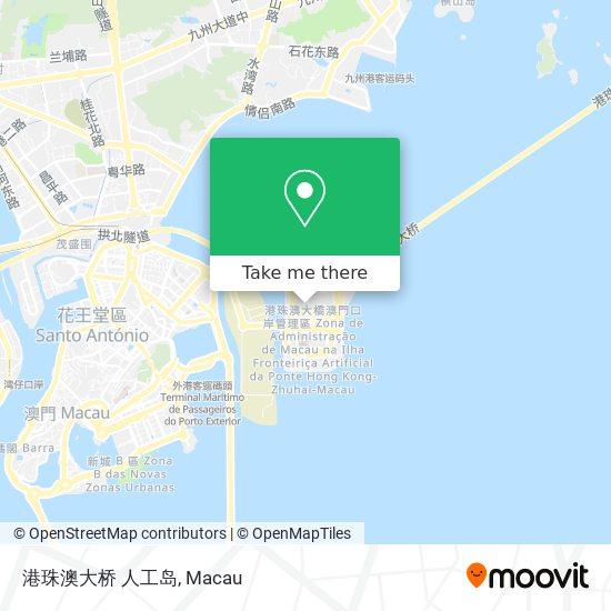 港珠澳大桥 人工岛 map