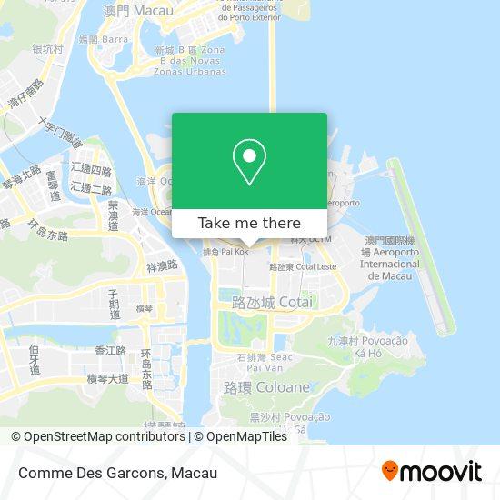 Comme Des Garcons map