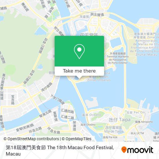 第18屆澳門美食節 The 18th Macau Food Festival map