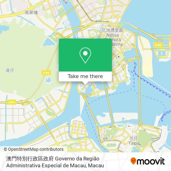 澳門特別行政區政府 Governo da Região Administrativa Especial de Macau map