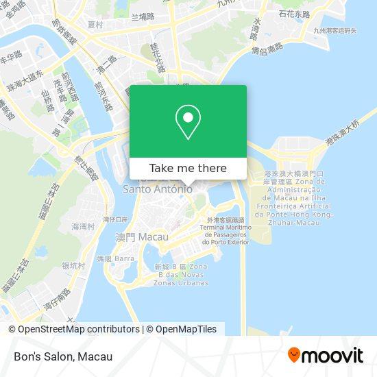 Bon's Salon map