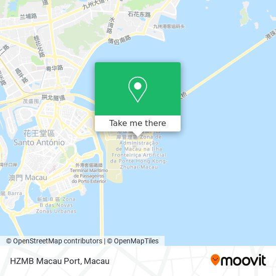 HZMB Macau Port map