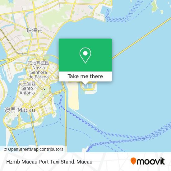 Hzmb Macau Port Taxi Stand map
