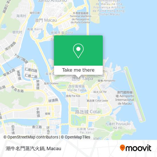 潮牛名門蒸汽火鍋 map