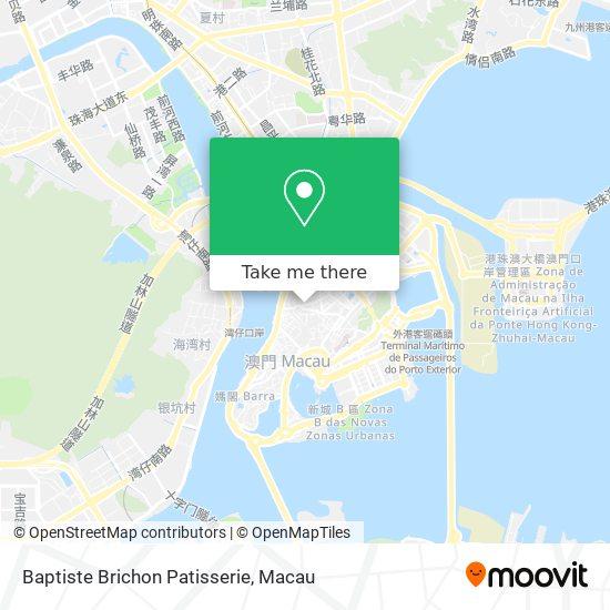 Baptiste Brichon Patisserie map