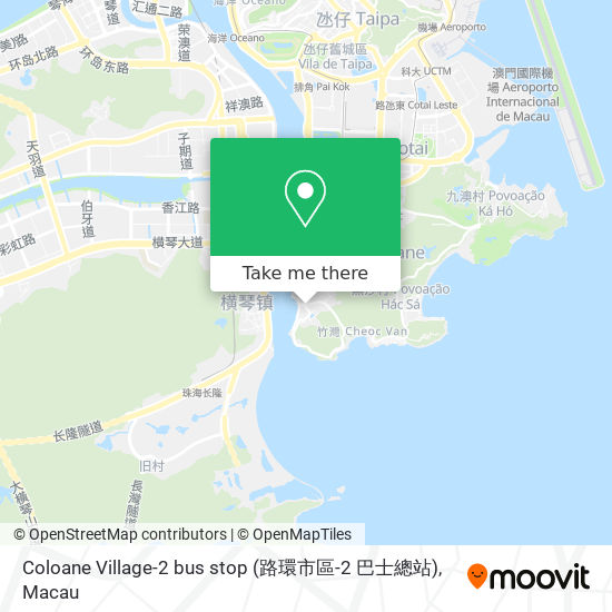 Coloane Village-2 bus stop (路環市區-2 巴士總站) map